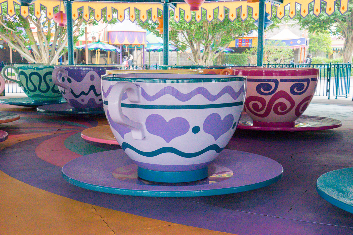 The teacup ride was fun and had its moments