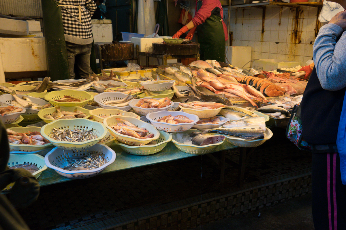 Fresh fish wet market