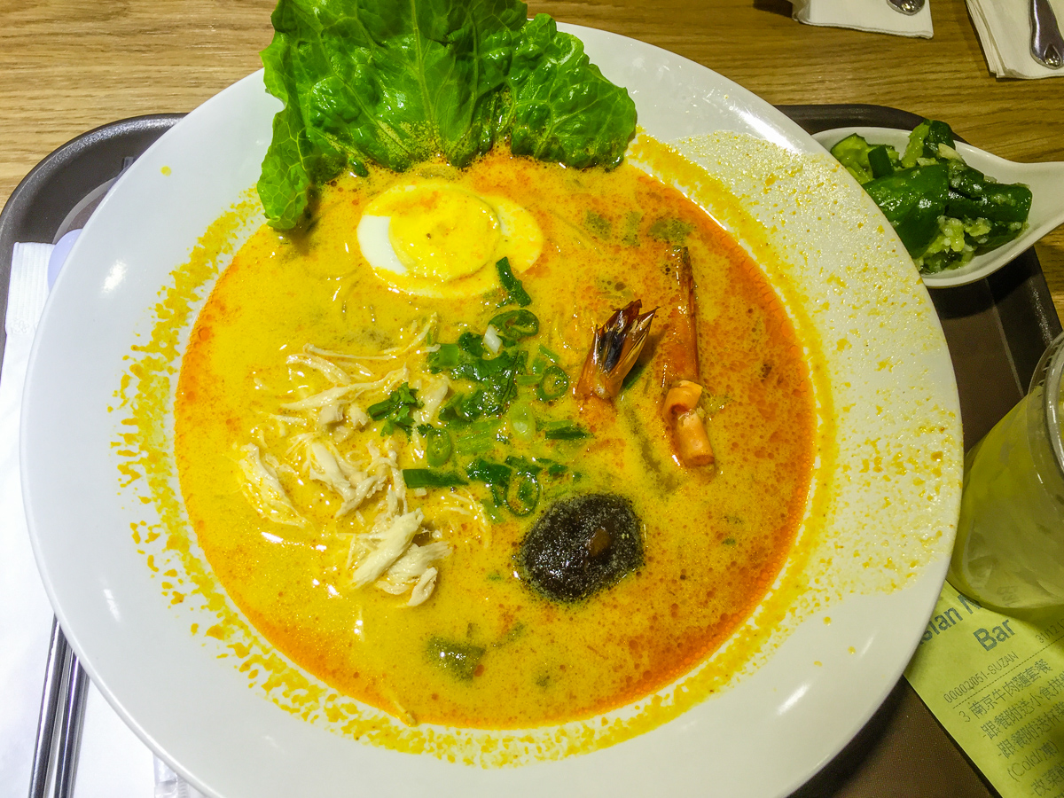 Indonesian prawn and chicken laksa