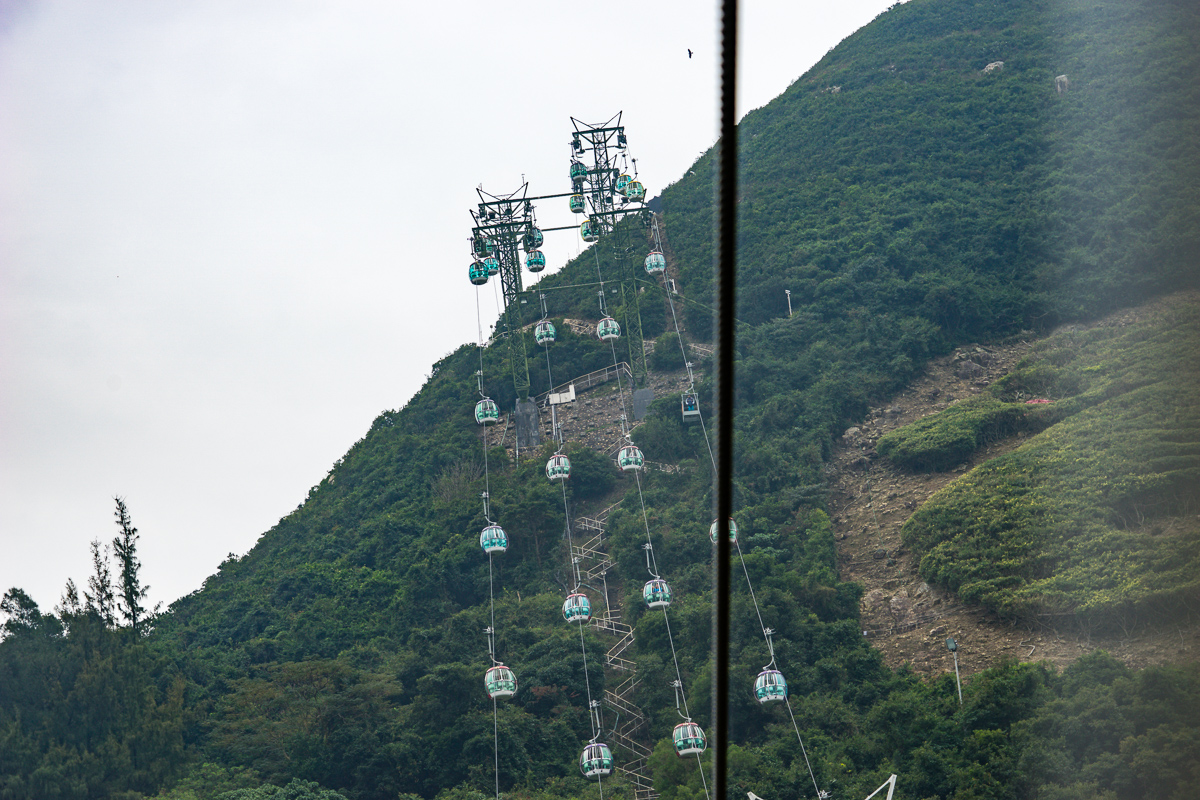 A photograph of The cable car at Ocean Park Hong Kong