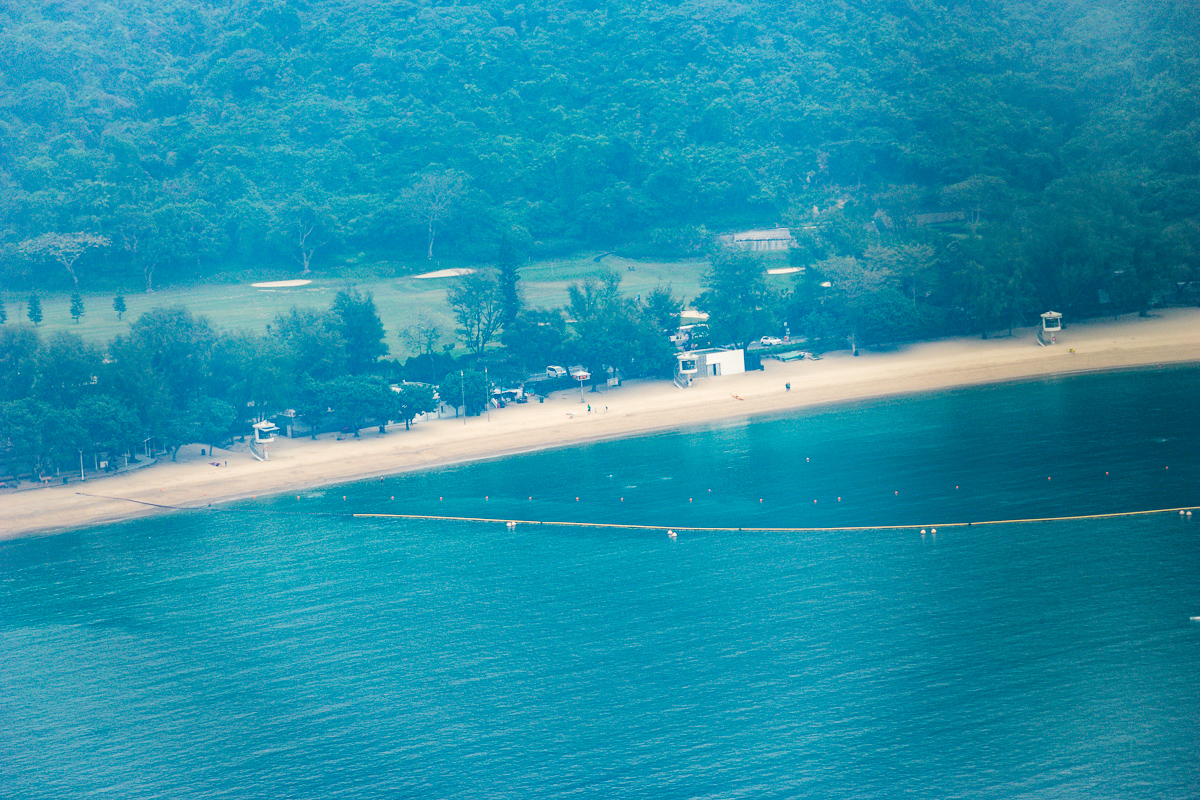 A photograph of Deep Water Bay Hong Kong after a lot of post processing in Adobe Lightroom. The haze was very severe.