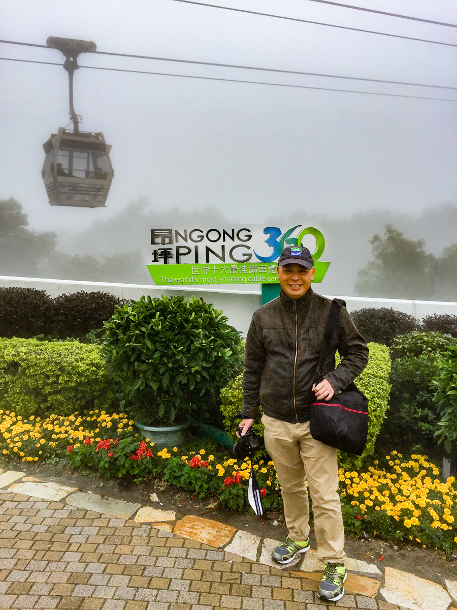 A photograph of me at Ngong Ping cable car station
