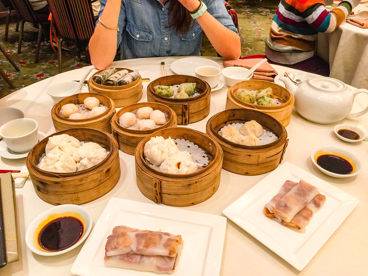Steamed dim sum at Lei Garden