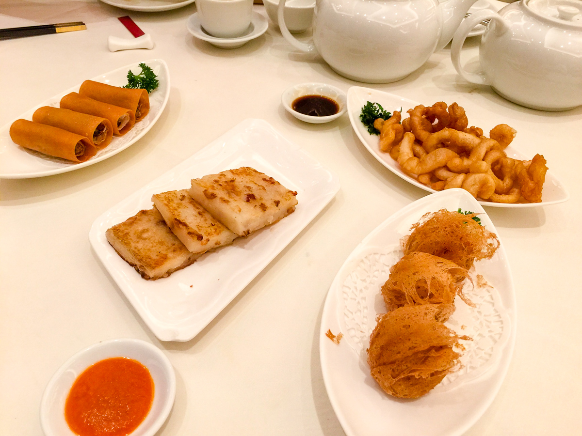 A photograph of Deep fried dim sum at Lei Garden