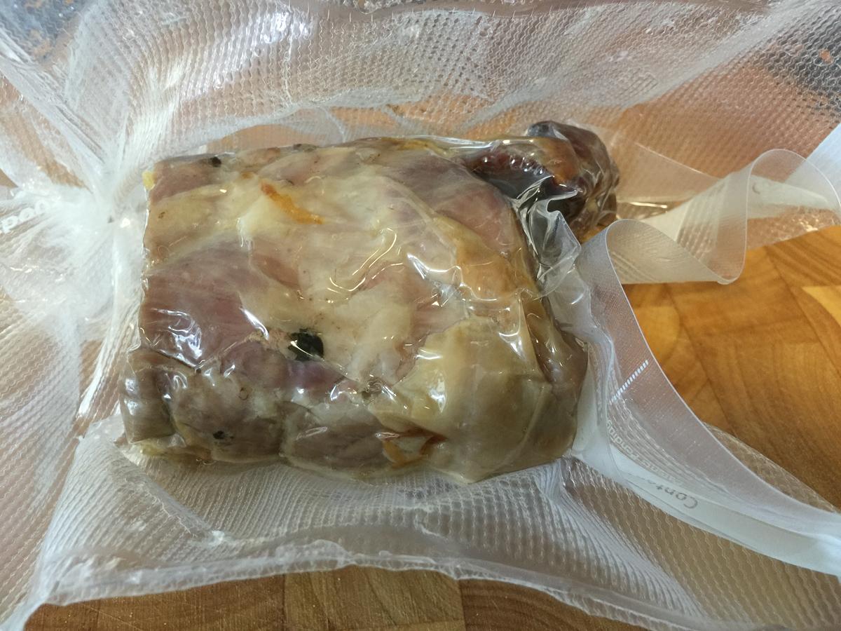 Vacuum packed lamb