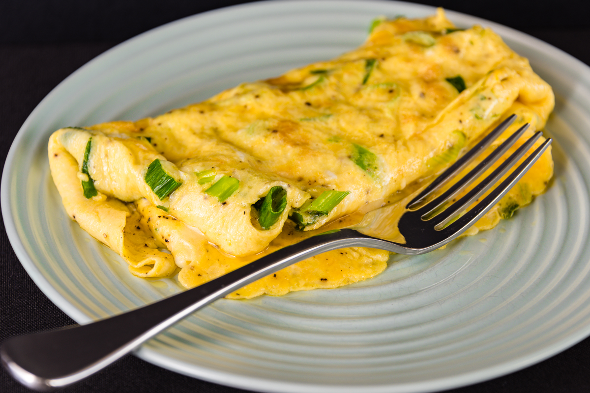 Photograph of Australia Day green and gold breakfast omelet