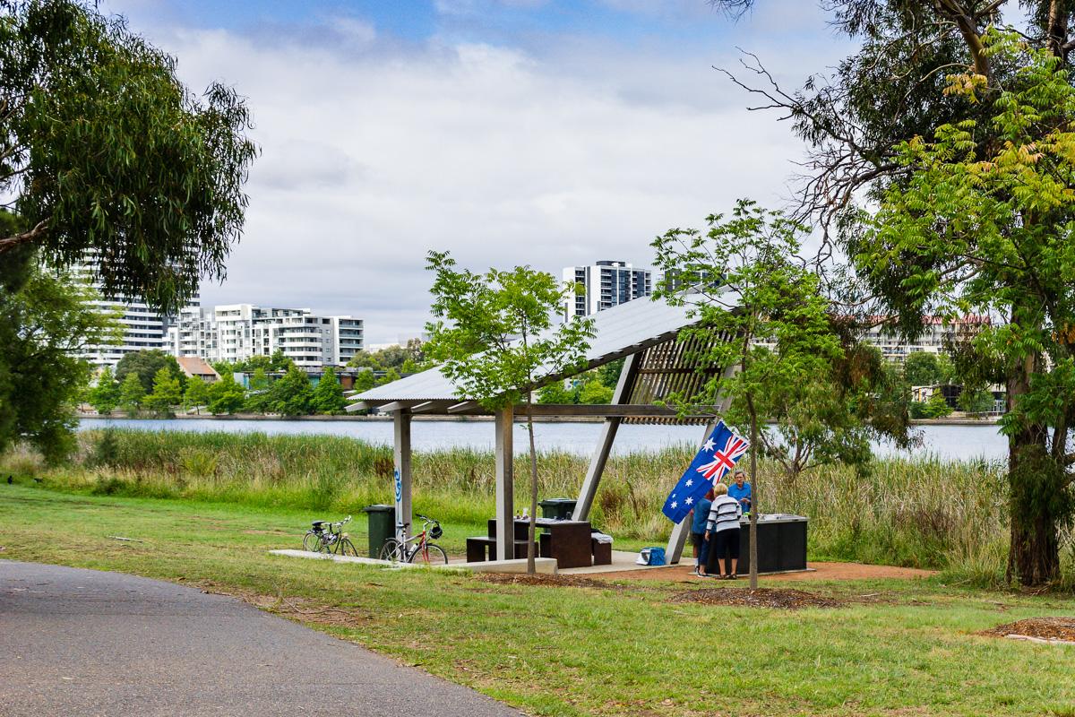 Picnic breakfast on Australia Day