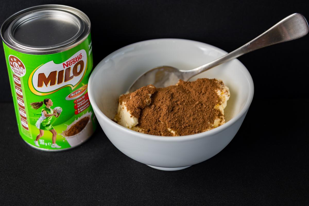 Australia Day ice cream with Milo