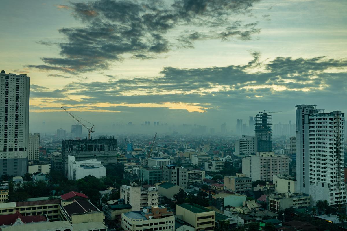 Gary Lum Manila morning from Pan Pacific Manila