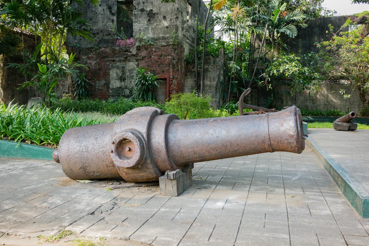 Gary Lum Fort Santiago cannon