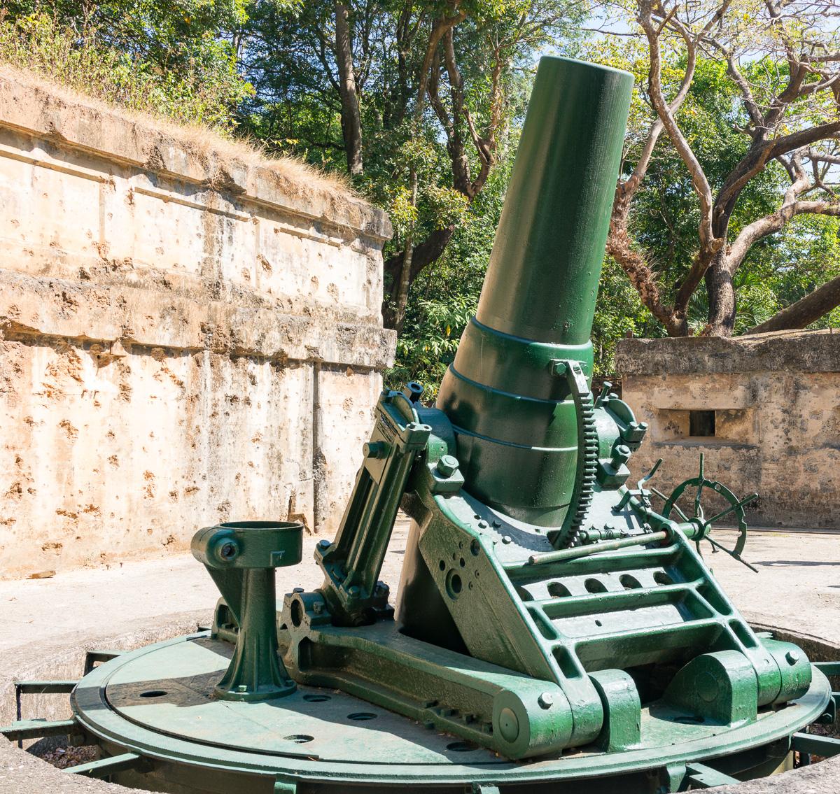Battery Way on Corregidor Island mortar