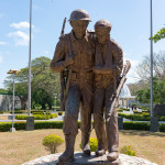 War fighter statues at Pacific War Memorial on Corregidor Island