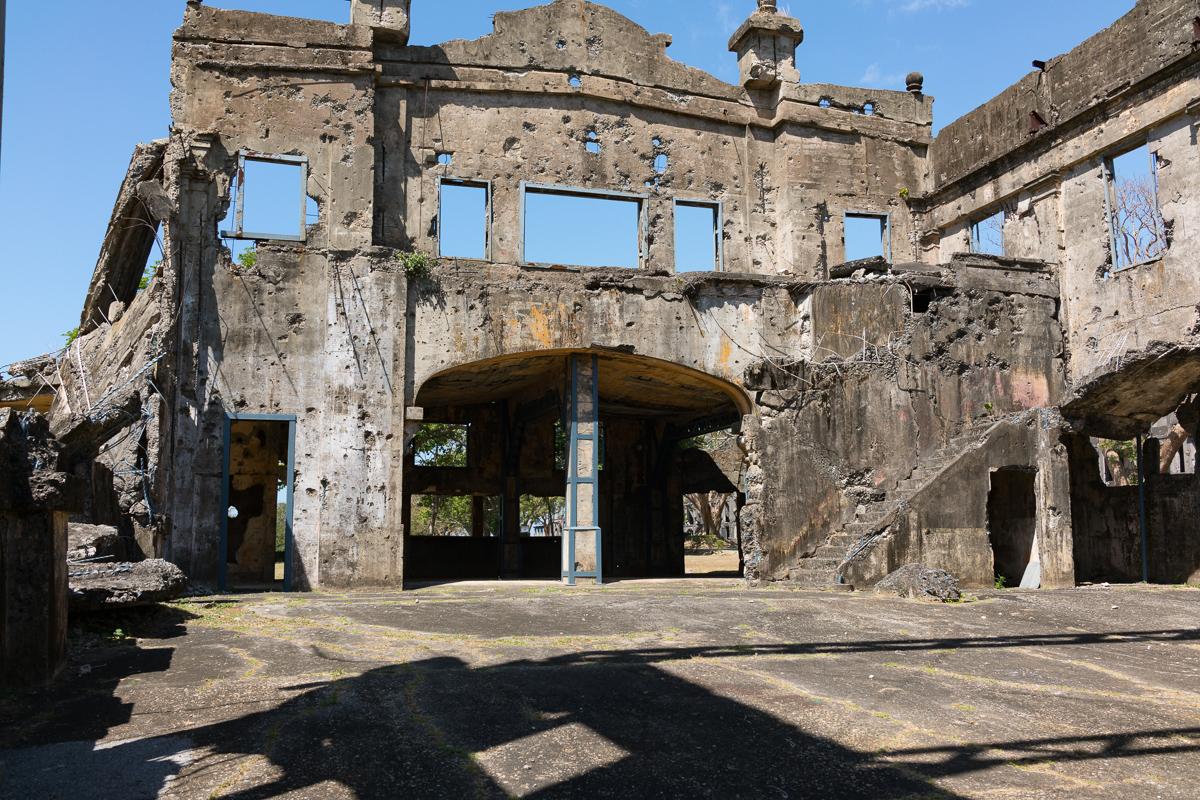 Barracks ruins on Corregidor Island