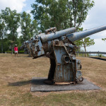 Japanese gun on Corregidor Island
