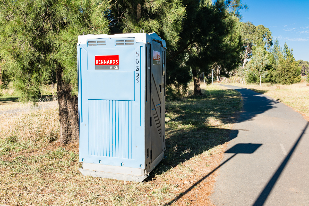 Portable toilet on Lake Ginninderra