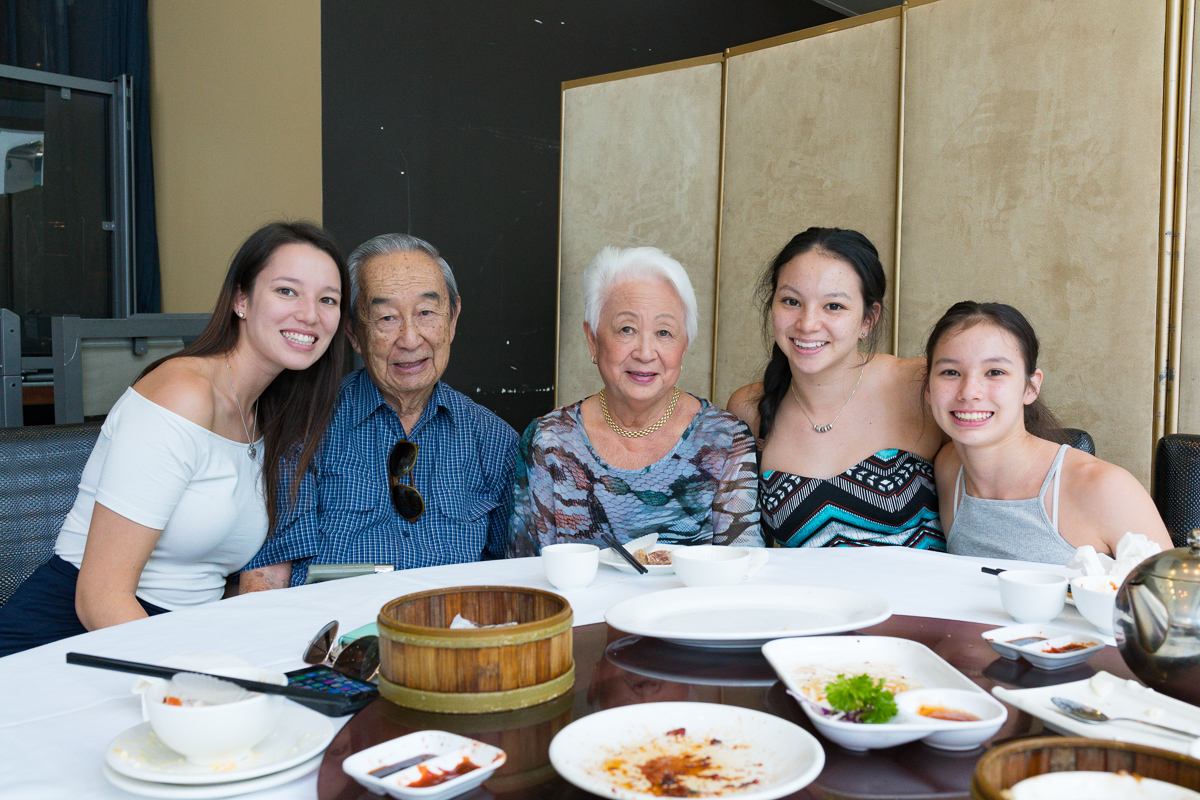 Gary Lum My Mum, Dad and daughters