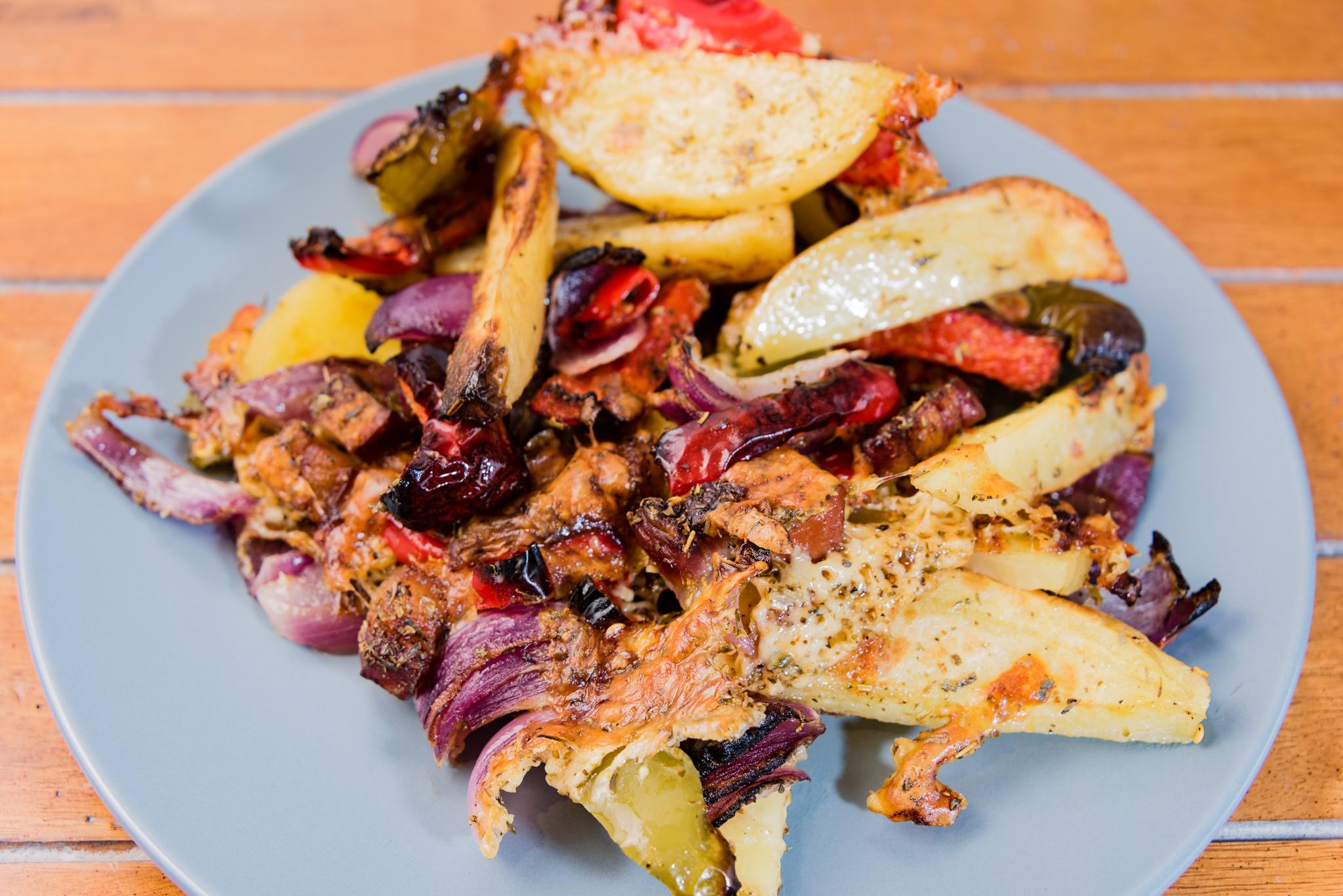 Gary Lum Roasted Capsicum, Cheese, Chilli, Onion, Potato, and Speck