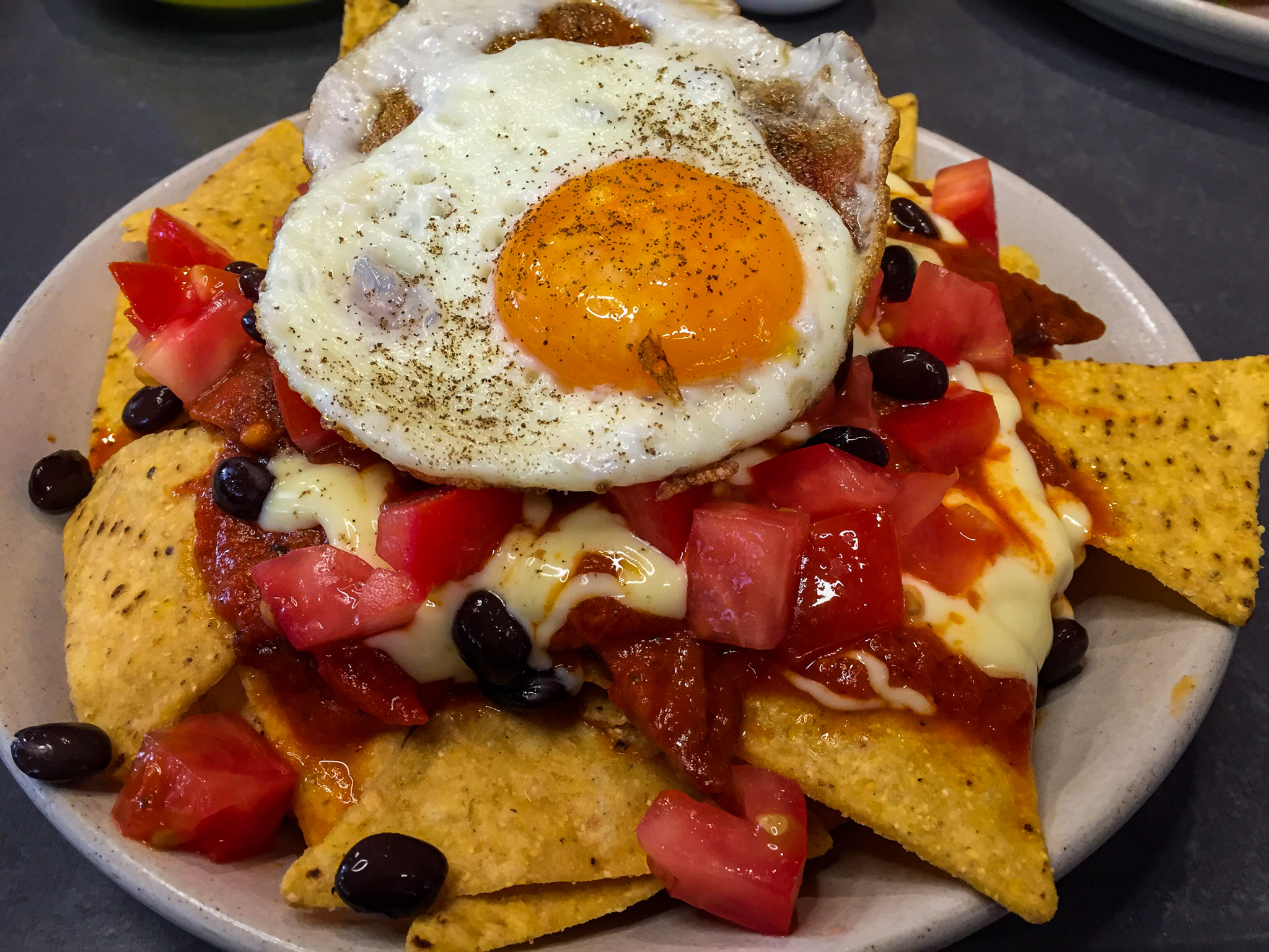 Gary Lum Breakfast nachos from Chatterbox Espresso Bar