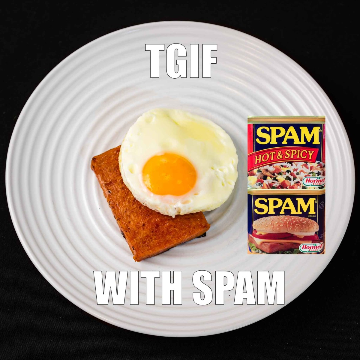 Hot and spicy spam and a fried egg