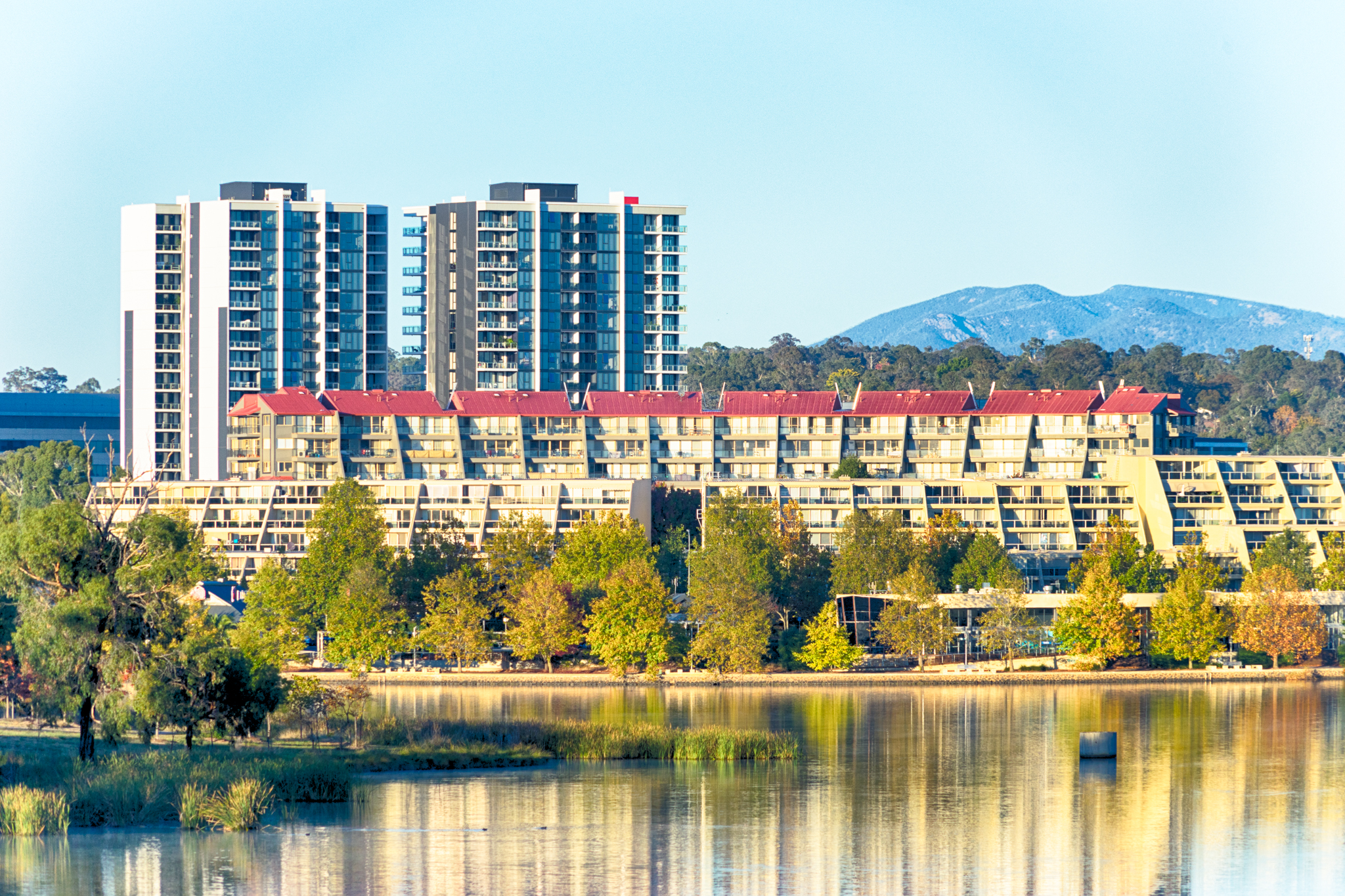 Belconnen from Lake Ginninderra