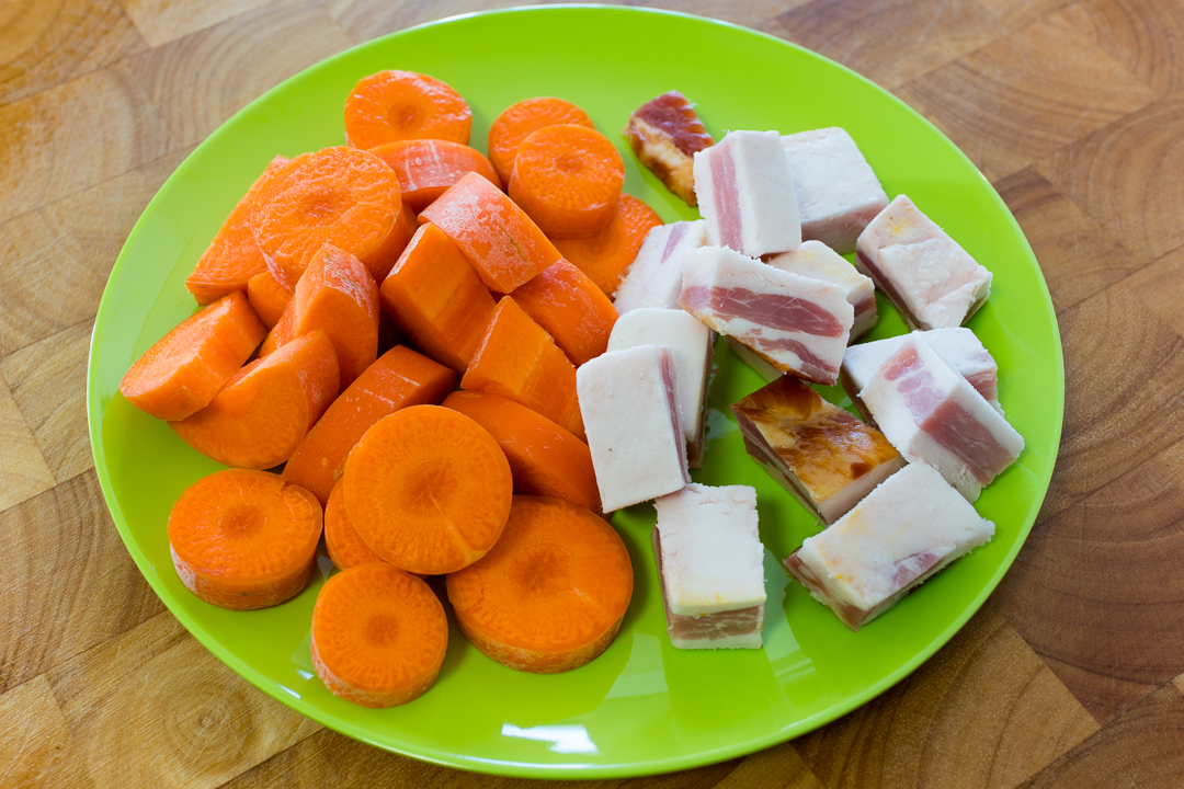 Carrot and speck