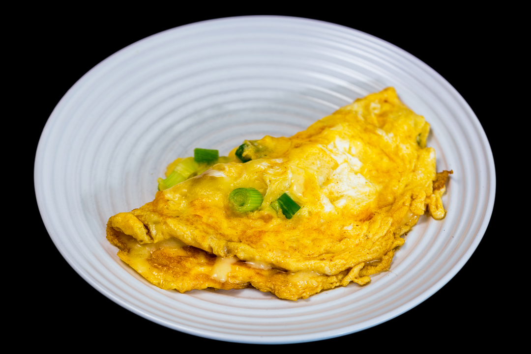 Cheese and spring onion omelet