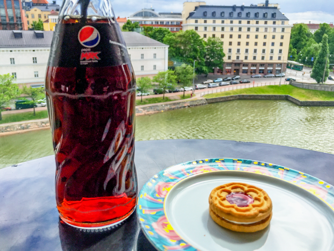 Pepsi Max and biscuit in Helsinki