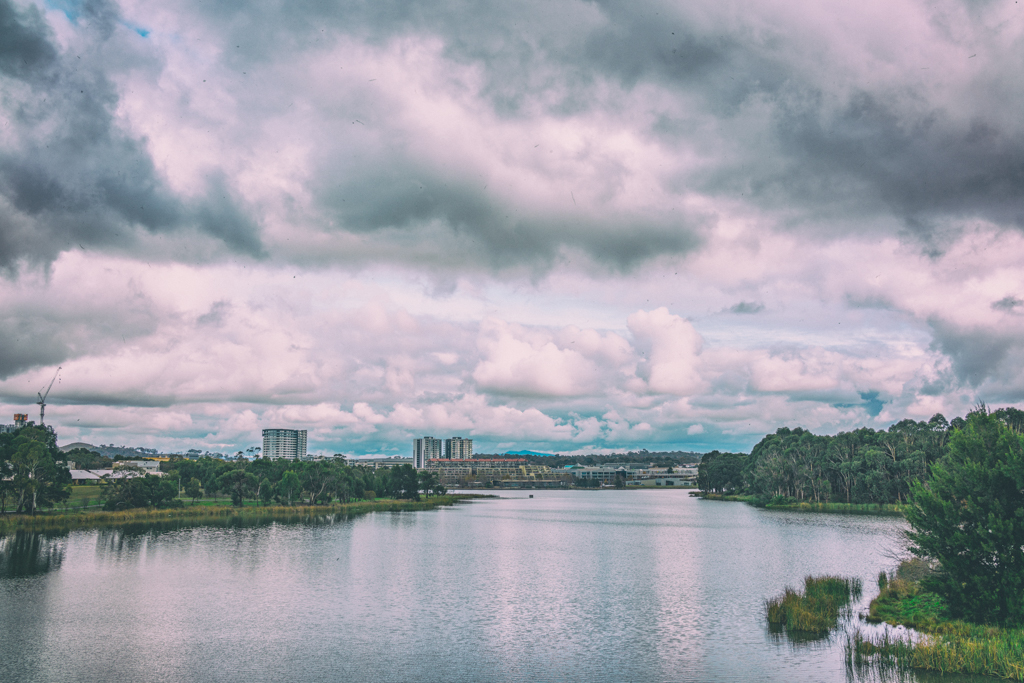Lake Ginninderra on a gloomy Saturday using Google Nik Classic Camera filter