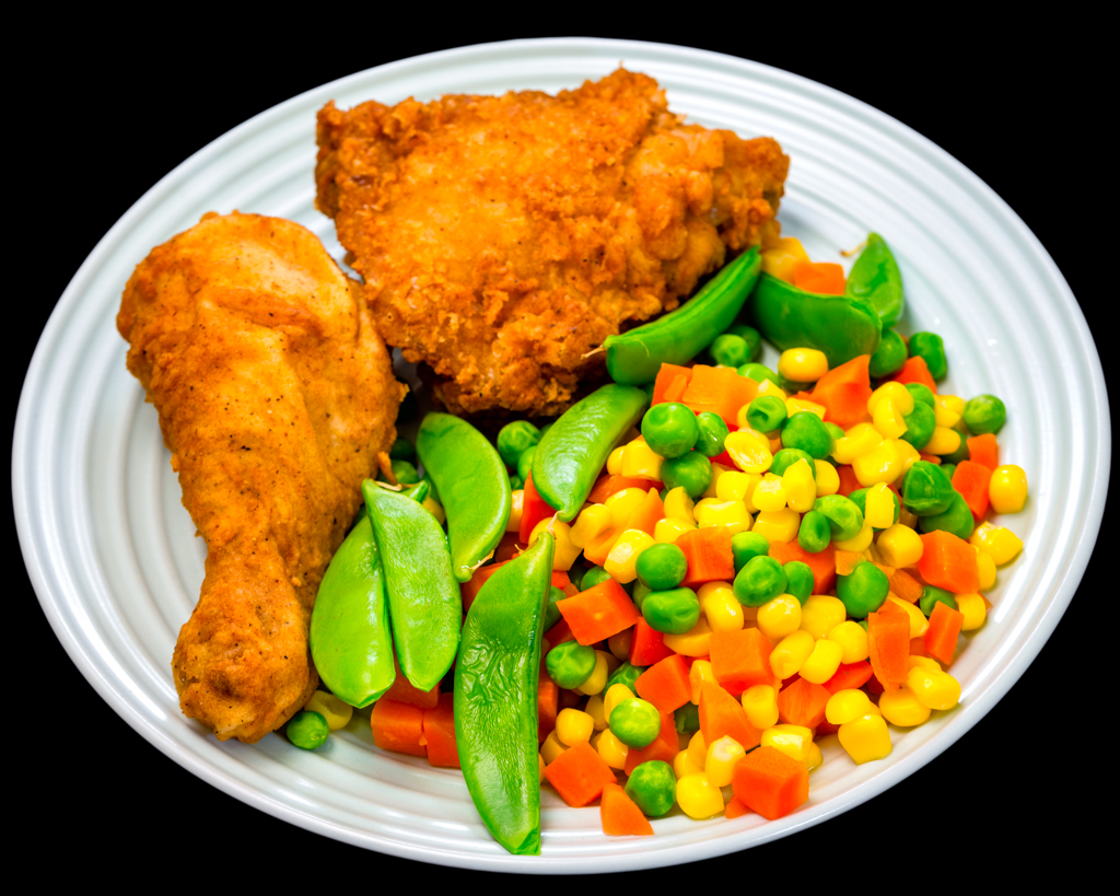 KFC with vegetables