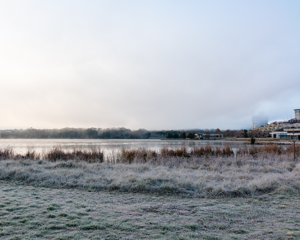 Frost around Lake Ginninderra