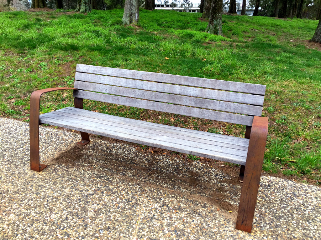 Park bench on Lake Ginninderra