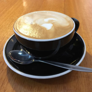 Coffee from Hides Bakery, Benalla road trip to Bendigo