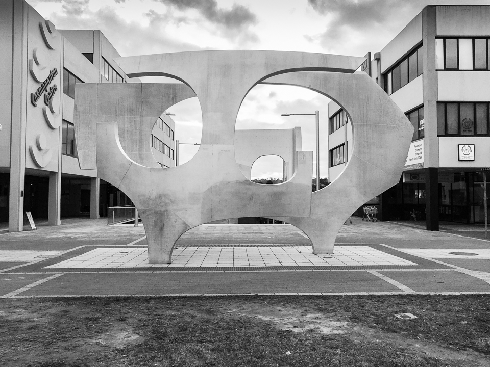 Public art in Woden on a cloudy Thursday morning Gary Lum