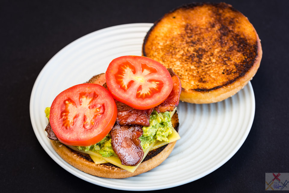 Bacon, tomato, avocado and cheese sandwich Gary Lum