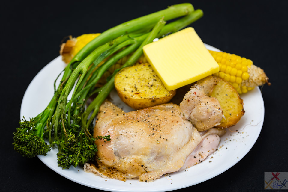 Roast chicken Maryland with roast corn and potato with broccoli https://youtu.be/TvFABegDKMc cooking corn Gary Lum