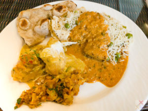 Friday lunch Imperial Hotel, chicken, cauliflower, lamb and paratha alimentary tract Gary Lum