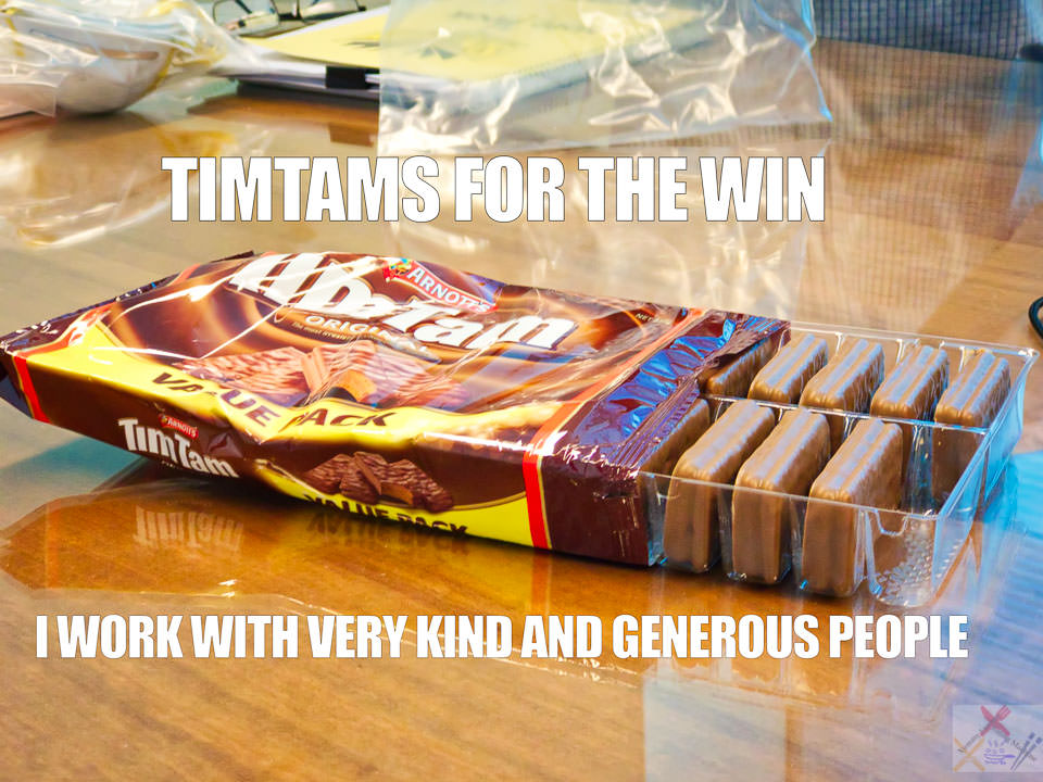 TimTams for the win Gary Lum