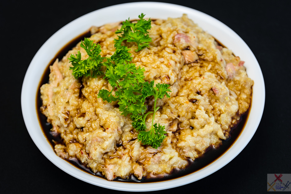 Chicken and bacon spicy congee with quinoa Gary Lum