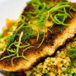 Panko crusted salmon with pearl barley couscous Gary Lum love lime Lime zest Lyme