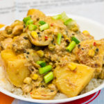 Slow cooked delicious peppery chicken curry made by Gary Lum