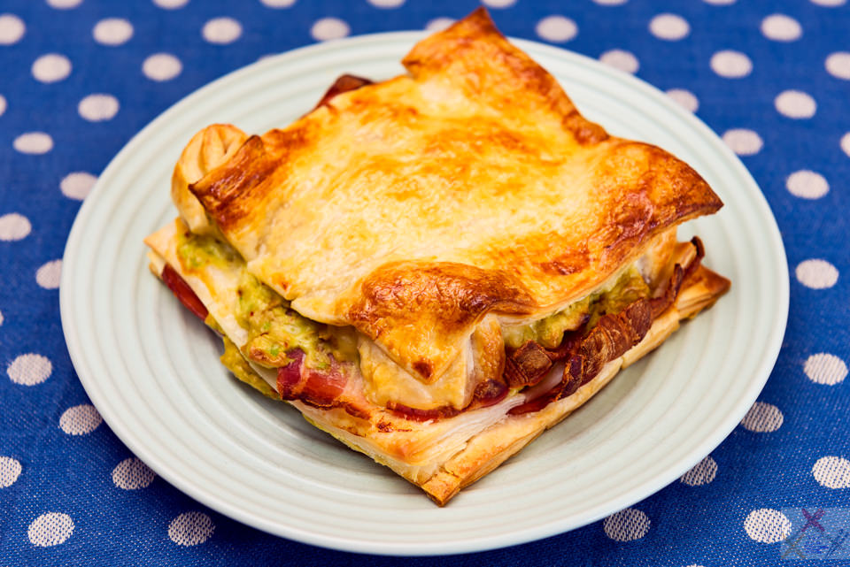 Bacon and avocado pastry square Gary Lum