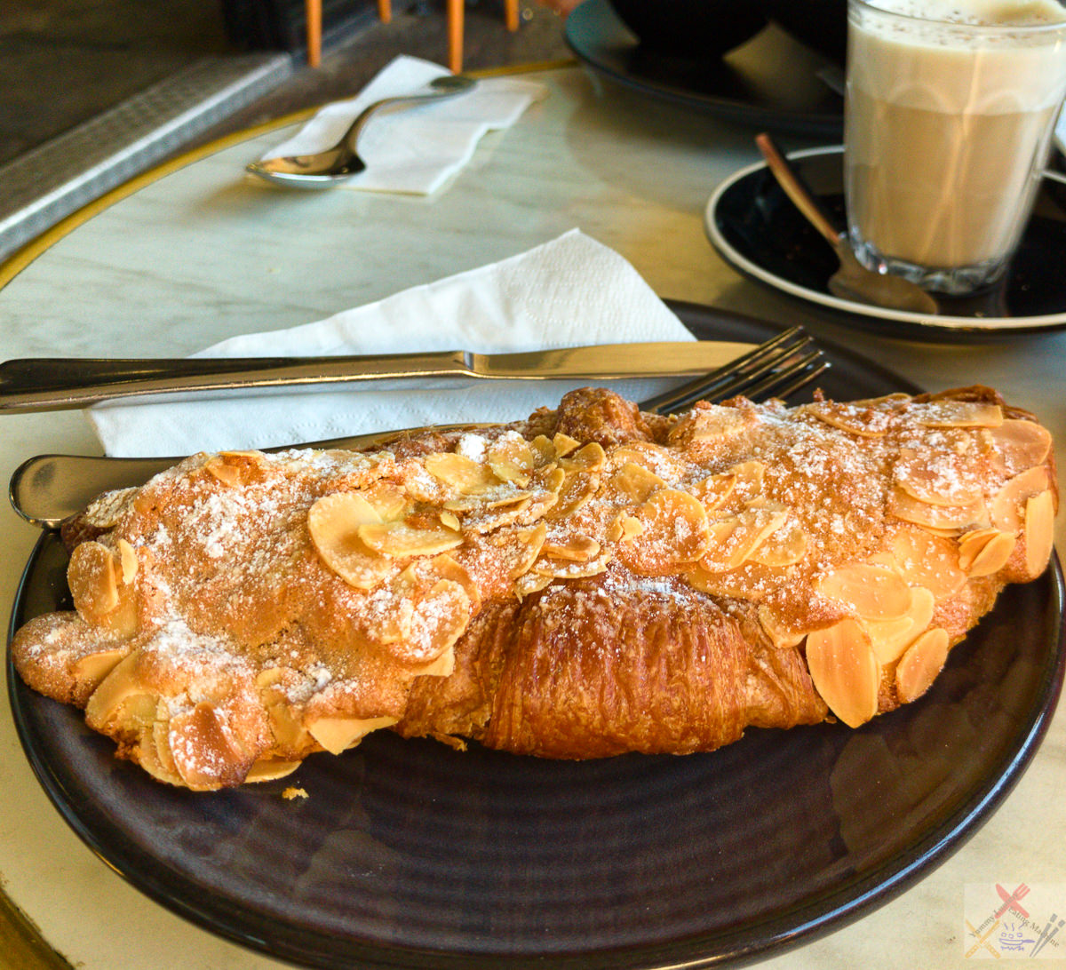 Almond custard croissant from Bang and Grind Gary Lum