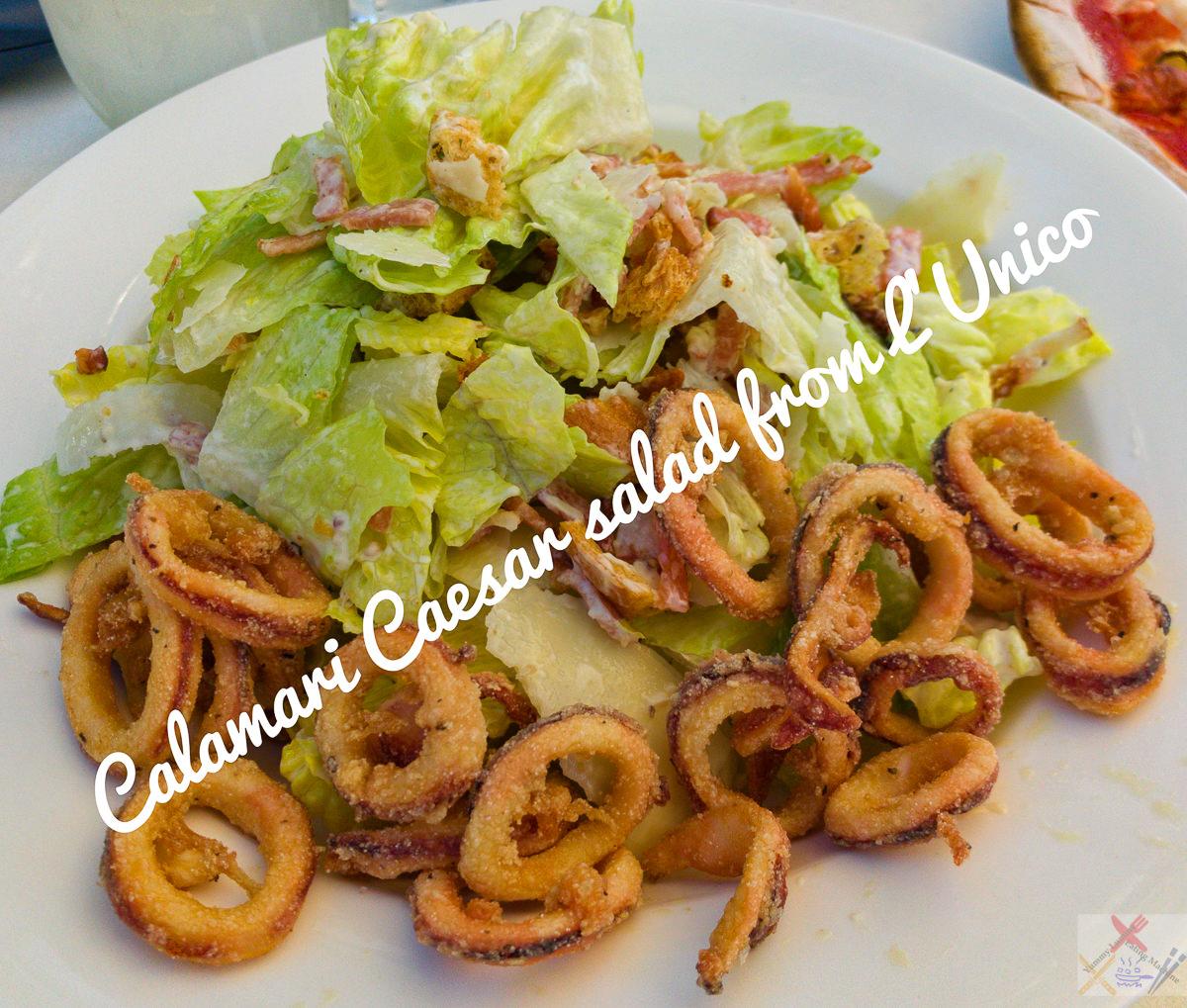 Calamari Caesar Salad from L'Unico, Trinity Bay Gary Lum