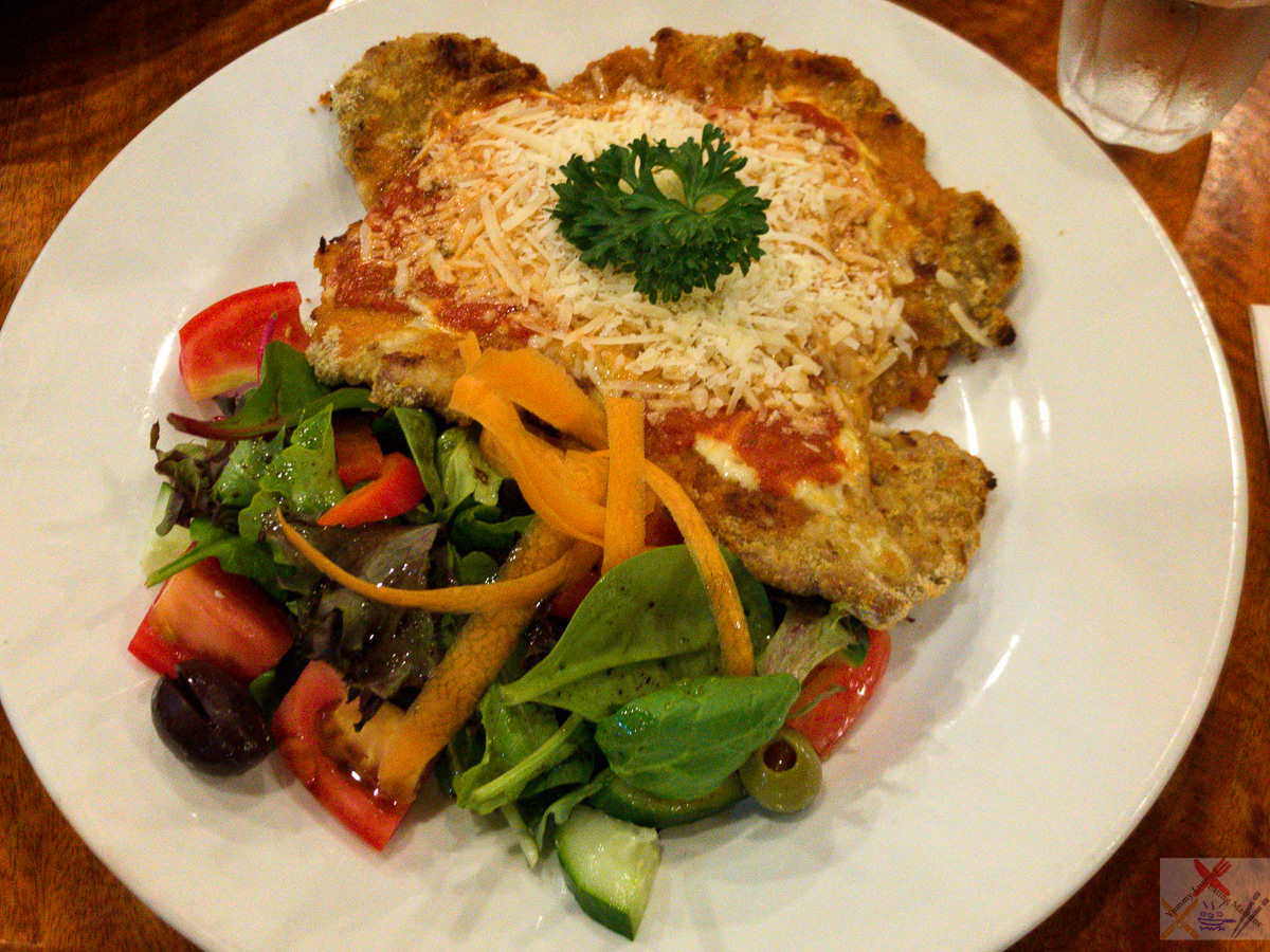 Crumbed veal parmigiana at Bel Paese Trattoria Pizzeria, Cairns City Gary Lum