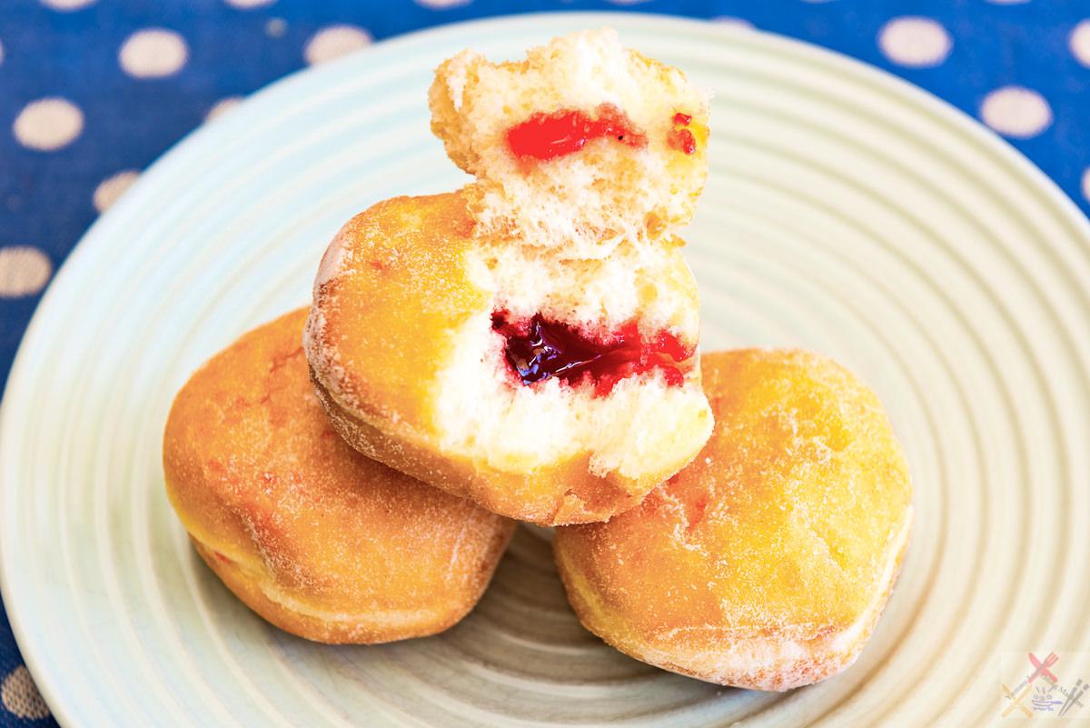 Jam doughnuts from Coles Gary Lum