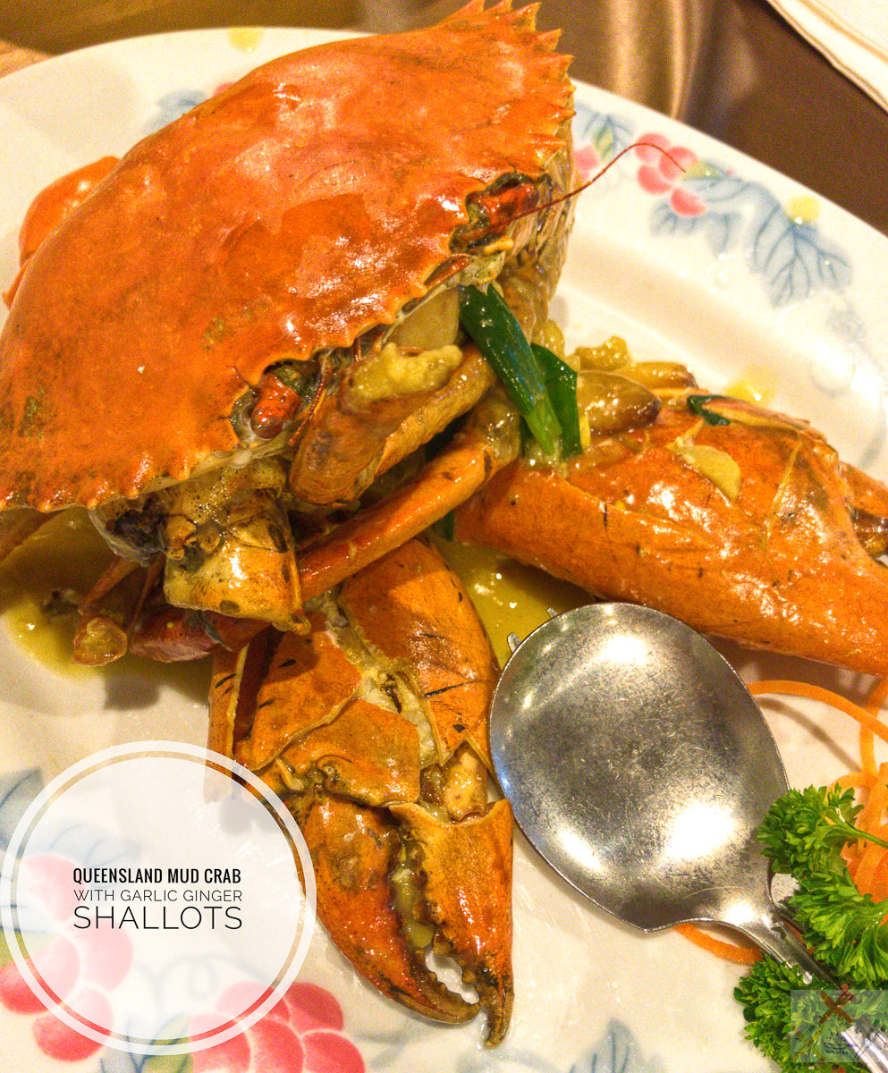 Queensland mud crab with garlic ginger and shallots at Taste of China Gary Lum