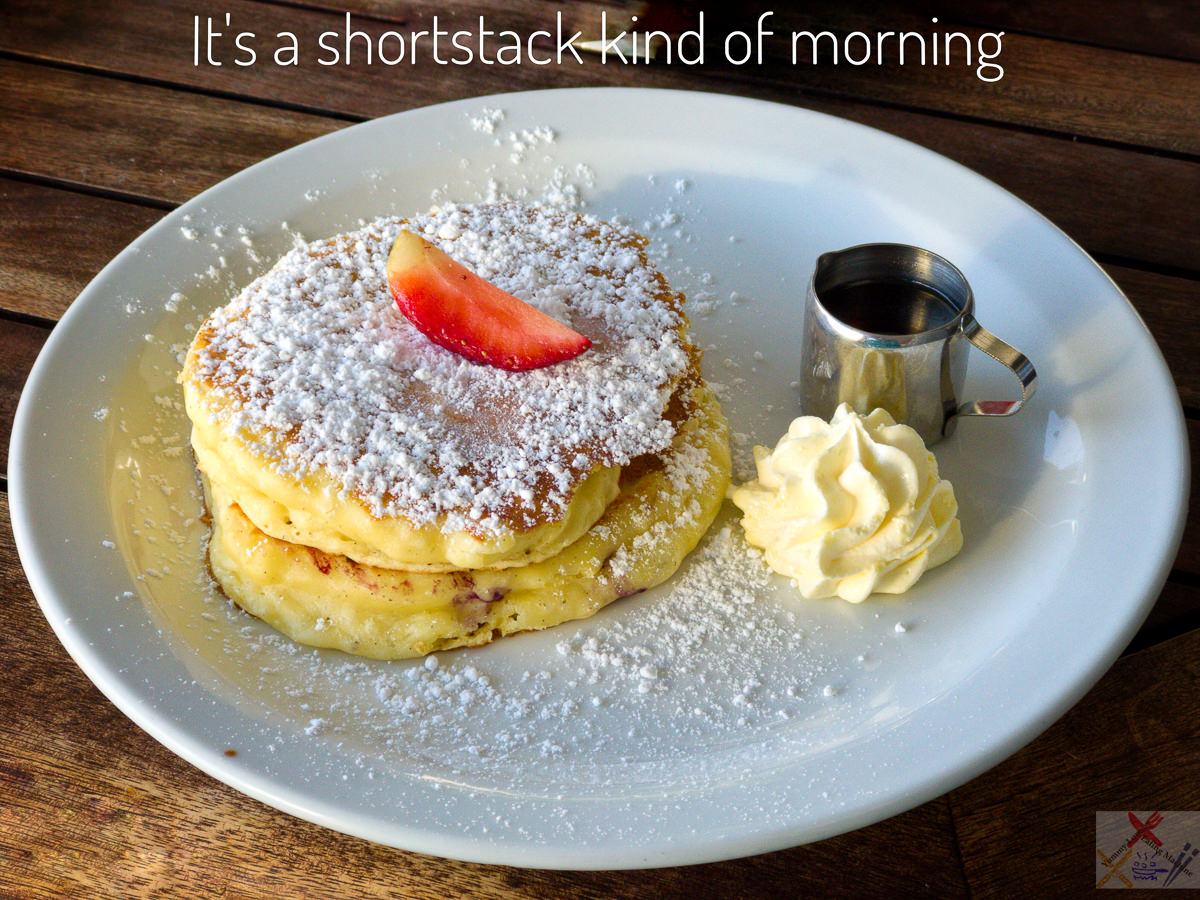 Short stack from Helga's Pancake House, Cairns Gary Lum