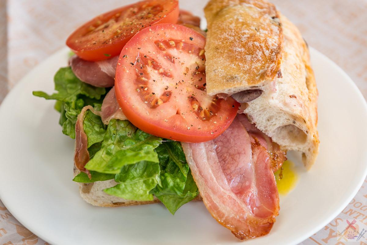 BLT on sourdough olive bread for brunch Gary Lum