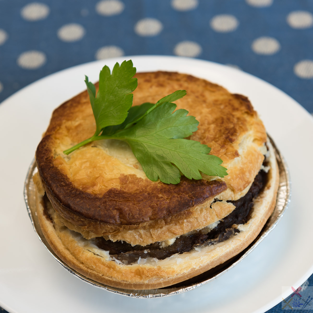 Garlo's Beef and mushroom pie augmented with cream cheese and Worcestershire sauce Gary Lum
