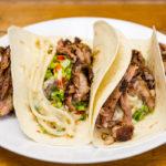 Creamy udon noodles tacos with slowly roasted lamb Gary Lum
